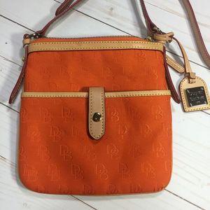 Donoey & Bourke Monogram Orange Crossbody Bag